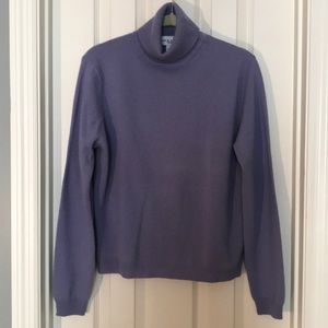 Cashmere Orchid Turtleneck Sweater
